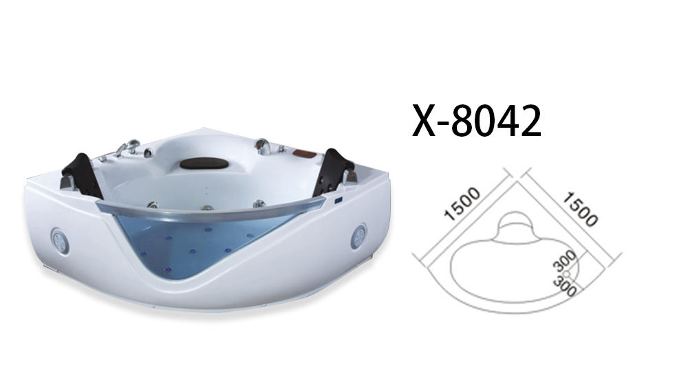 Xavier -Massage Bathtub | Acrylic Corner Whirlpool Hydromassage Bathtub