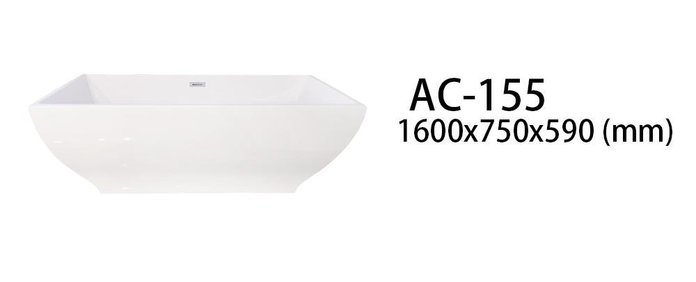 Xavier -Freestanding Soaking Tub | Square Freestanding Acrylic Bathtubs