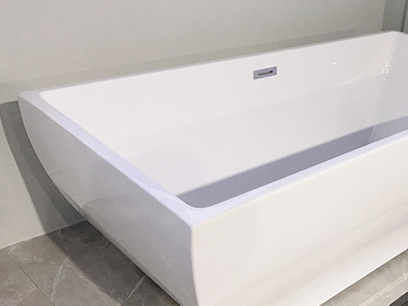 Xavier -Freestanding Soaking Tub | Square Freestanding Acrylic Bathtubs-2
