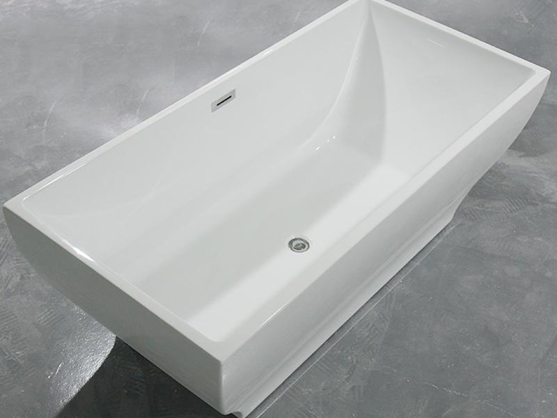 Xavier -Freestanding Soaking Tub | Square Freestanding Acrylic Bathtubs-1