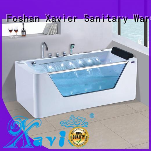 Xavier custom massage bathtub supplier for outdoor
