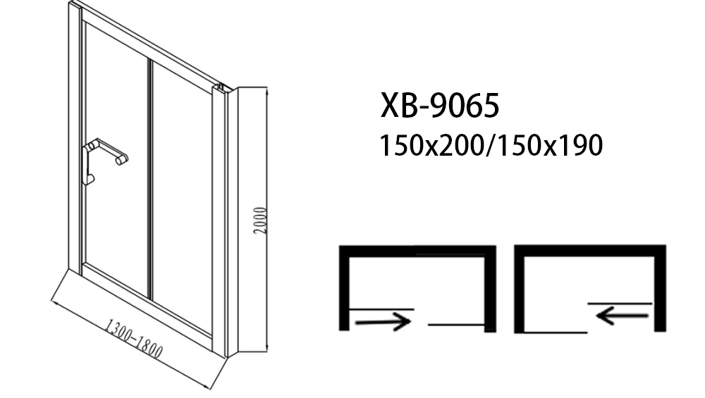 Xavier -Shower Stall Doors | 6mm Aluminum Glass Shower Screens | Xavier