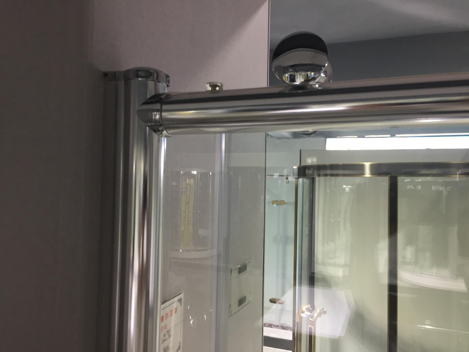 Xavier -Bath Screen | Bathroom Big Roller Bypass Sliding Glass Shower Door-1