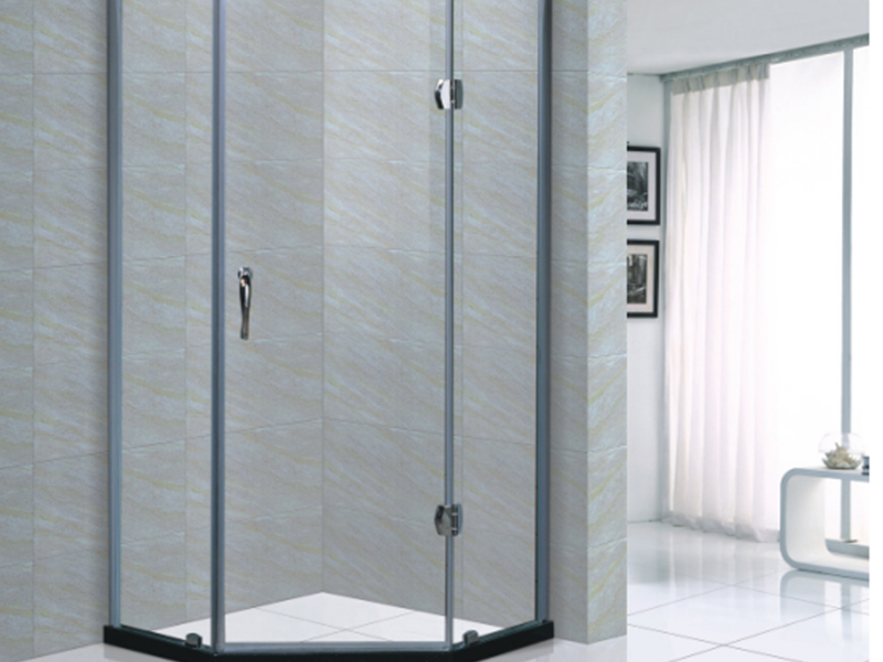 Xavier -Corner Shower Enclosures | Rectangle Frameless Shower Screen-1
