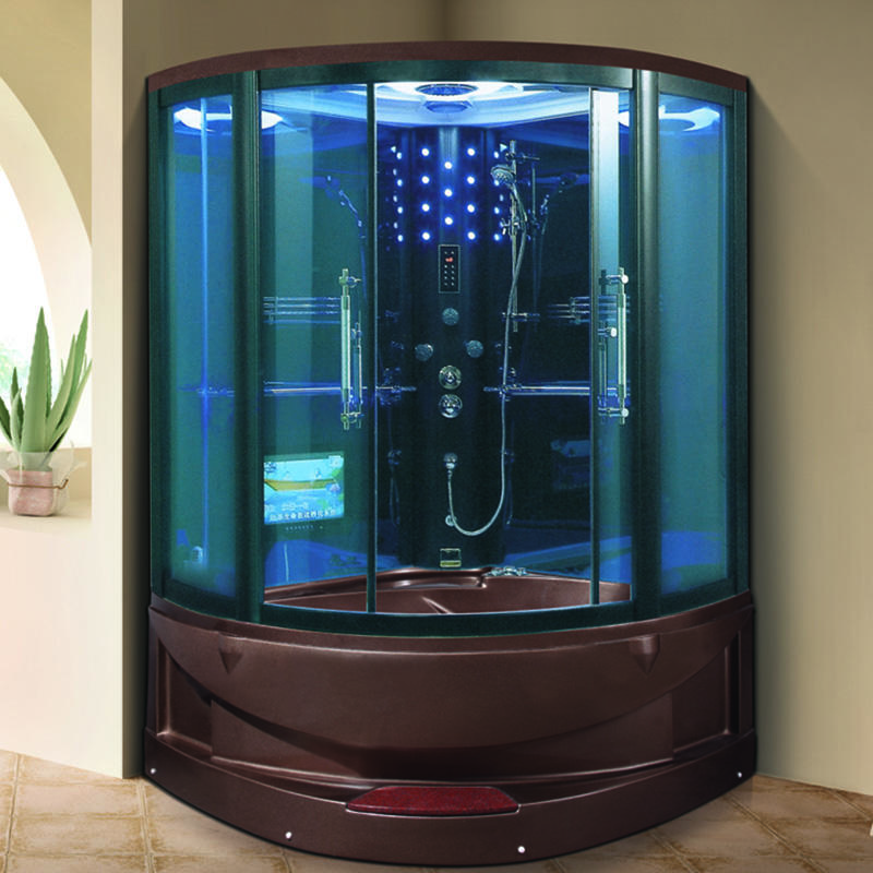Good selling for Brown color steam room with TV ZB1400-TG