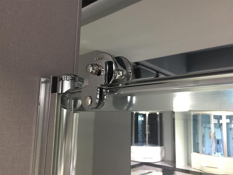 Xavier -Bath Screen | Bathroom Big Roller Bypass Sliding Glass Shower Door-2