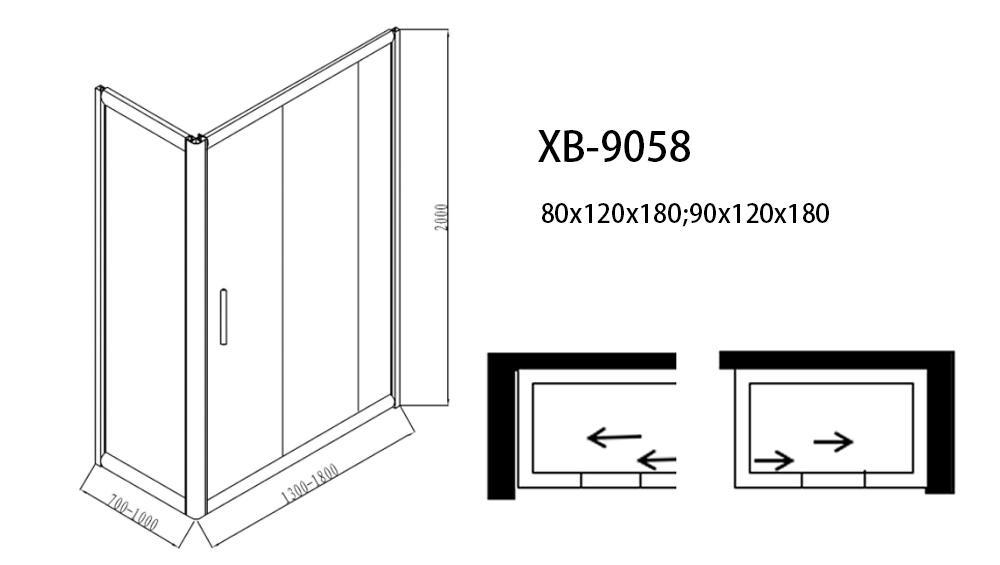 Xavier -Complete Shower Units | Sliding 6mm Shower Enclosure Cabin