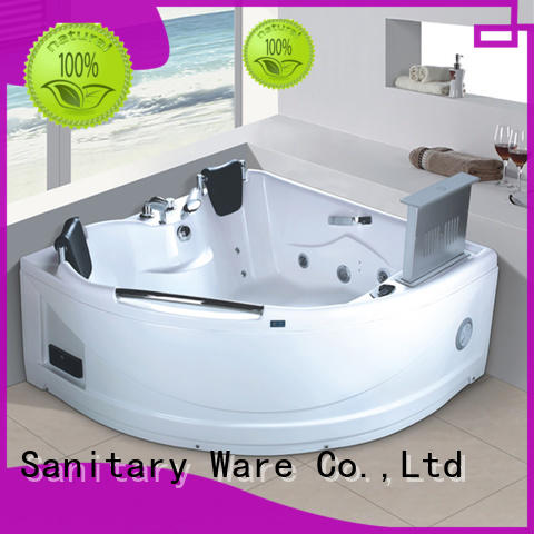 Xavier durable corner jetted tub function for villa