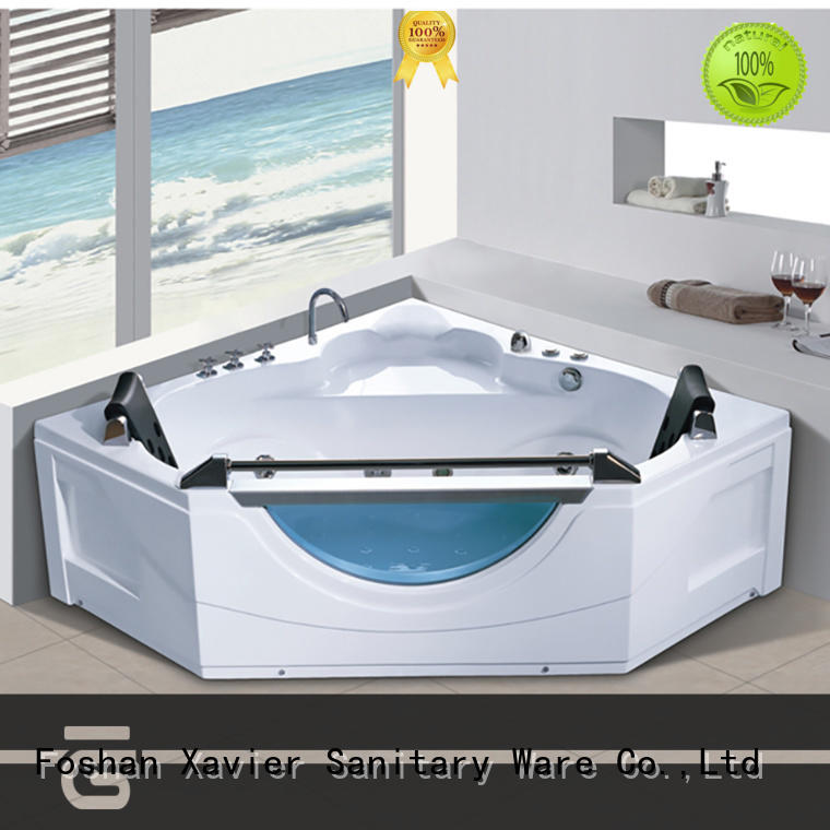Xavier acrylic massage bathtub with berth for family