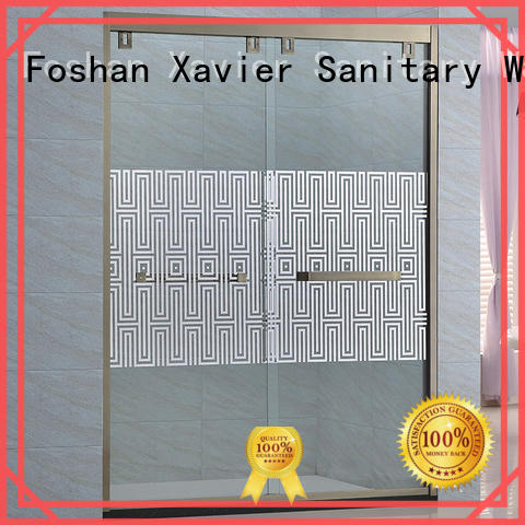 Xavier customized bathroom glass door directly price for household