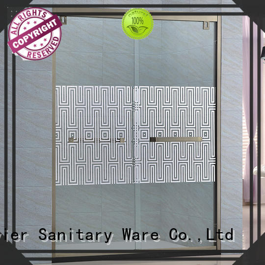 customized bathroom glass door bypass promotion for home