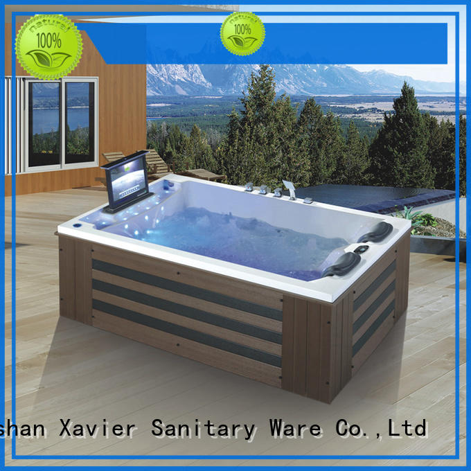 Xavier technical american standard whirlpool tub with jacuzzi for two people