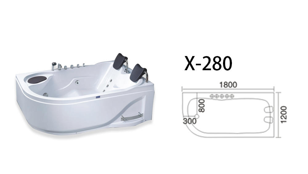 modren corner whirlpool tub x270 with jacuzzi for bathroom-1