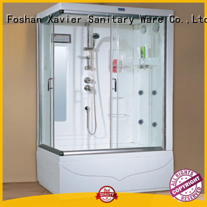 Xavier square steam shower units factory price for apartment